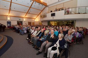 The audience of 300 pictured enjoying an evening of Festive Fun with Fleet Lions