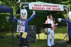 Elvis performs for the crowds