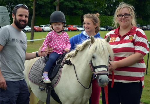 Pony Rides at Funfest in Yateley