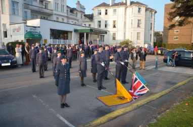 The Flag Ceremony with the 130 Squadron Bournemouth Air Cadets
