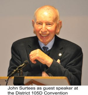John Surtees, guest of Honour addresses Convention