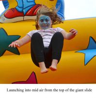 High rise fun on the giant slide