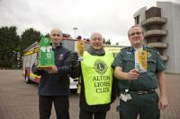 Alton Lions promoting Message in a Bottle with Hampshire Fire Service