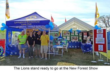 New Forest Show Information Stand
