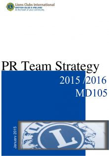 PR strategy 2015 to 2016