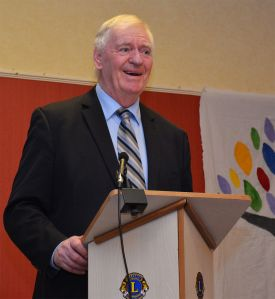 Lawrie McMenemy addresses Convention talking through his experiences with the Special Olympics