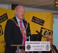 The Lord Mayor of Portsmouth Councillor Ken Ellcome opens the 2018 District Convention