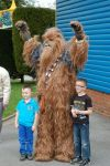 You never know who you will bump into at Paultons Park